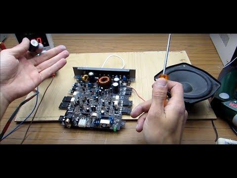 видео: Ремонтируем автомобильный усилитель jvc. (Видео в реальном времени)