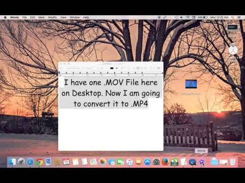 Convert MOV to MP4 on Mac