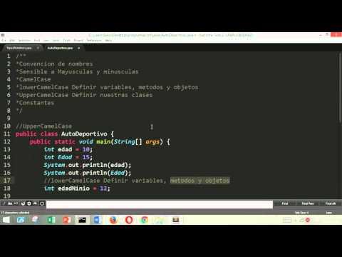 Tutorial Java Desde Cero.- 5: Convenciones: CamelCase y Constantes.