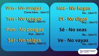 Spanish Irregular Tu Commands