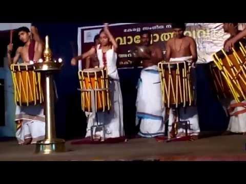 THAYAMBAKA ( TRADITIONAL KERALA DRUMS CHENDA)PERFORMANCE BY FEW YOUNG TALENTS - part 2