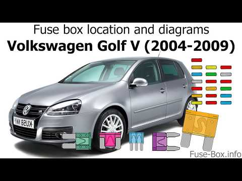 Fuse box location and diagrams: Volkswagen Golf V (mk5; 2004-2009) - YouTubeYouTube