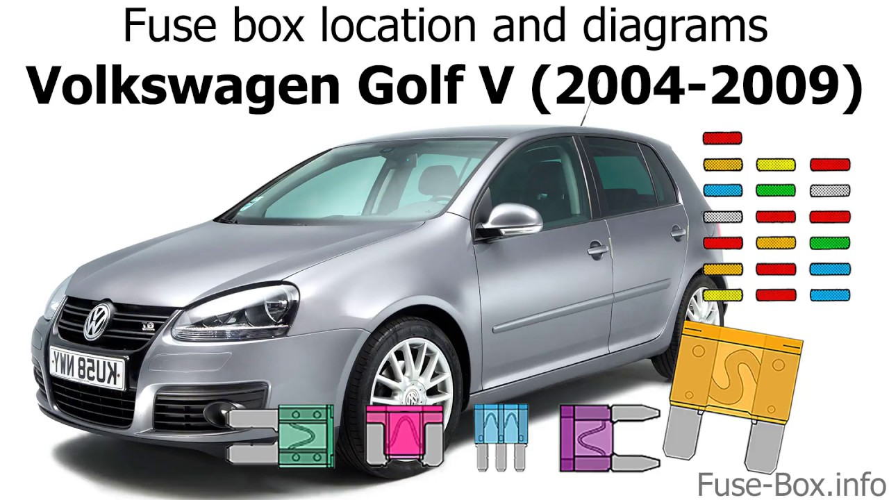 Fuse box location and diagrams: Volkswagen Golf V (mk5; 2004-2009) - YouTube  YouTube