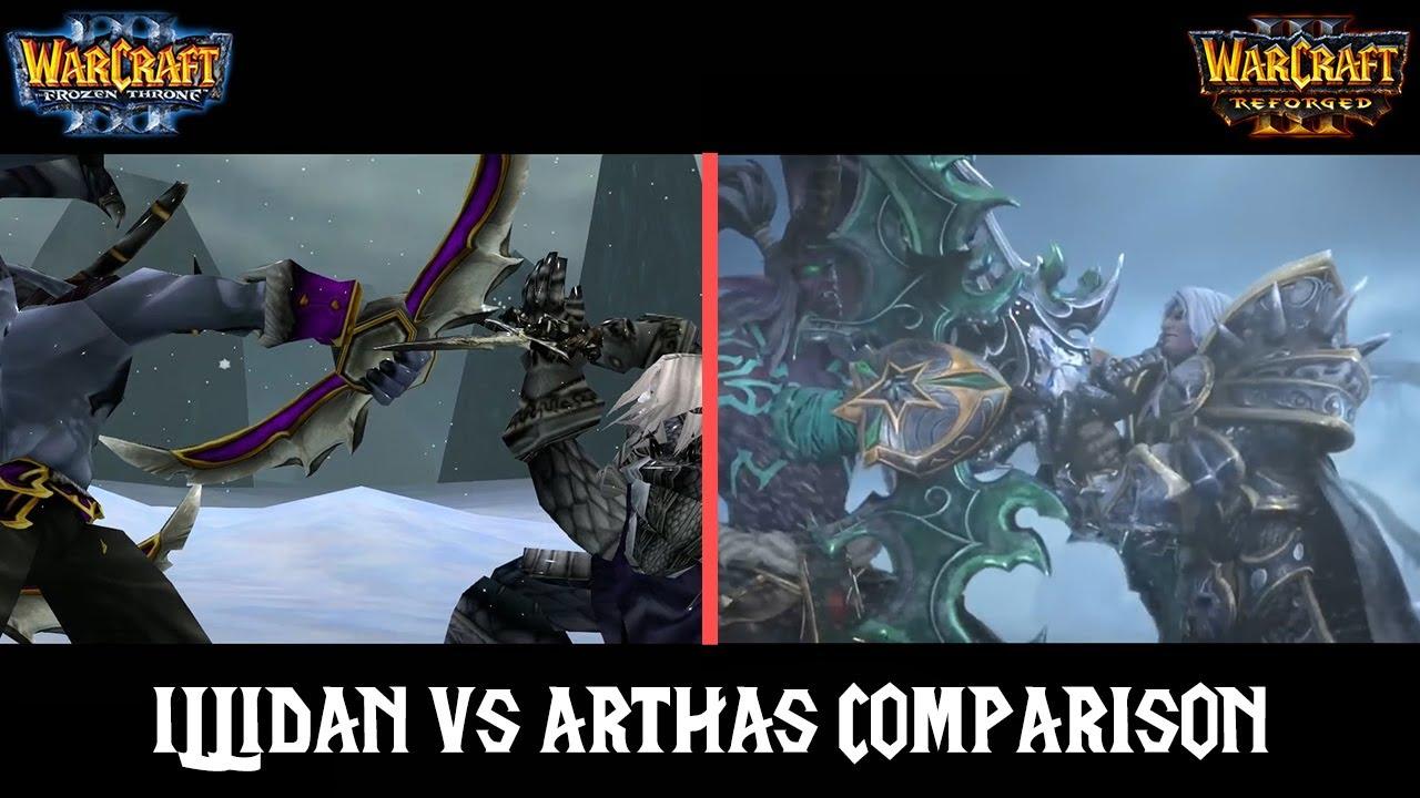 Arthas Vs Illidan Comparison Classic Reforged Warcraft 3