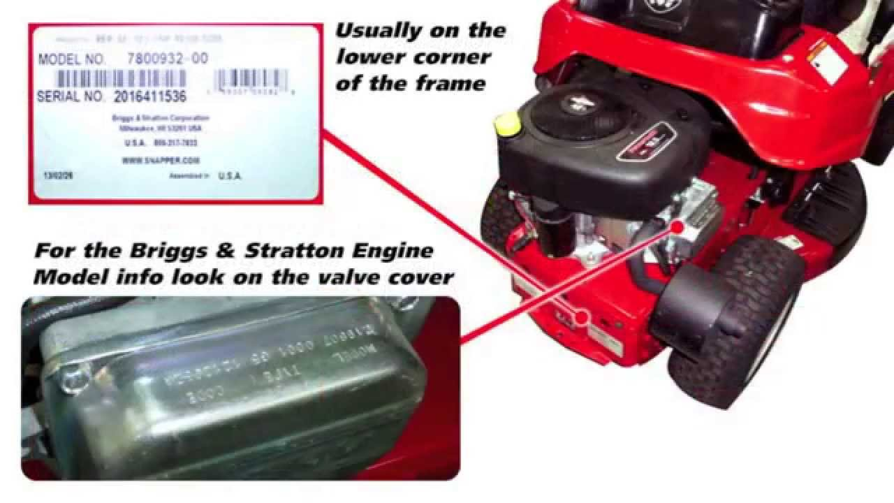 snapper rear engine rider parts & model numbers  snapper lawn mower engine diagram #11