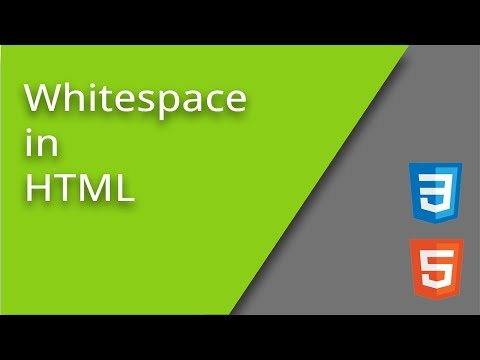 Whitespace In HTML