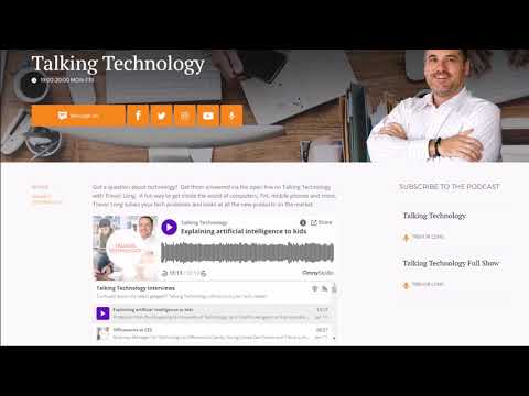 Explaining artificial intelligence to kids: Talking Technology