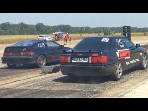920 HP Audi S2 vs Honda CRX VT B16a1 - Drag Race Ianca 06.08.2017 #2