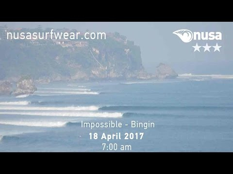 18 - 04 - 2017 / ✰✰✰ / NUSA's Daily Surf Video Report from the Bukit, Bali.