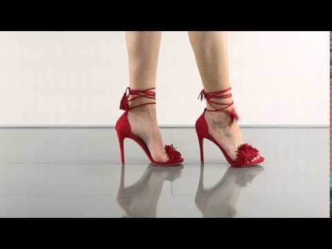 cfae06b1dee Sassey in Red Suede Steve Madden - YouTube