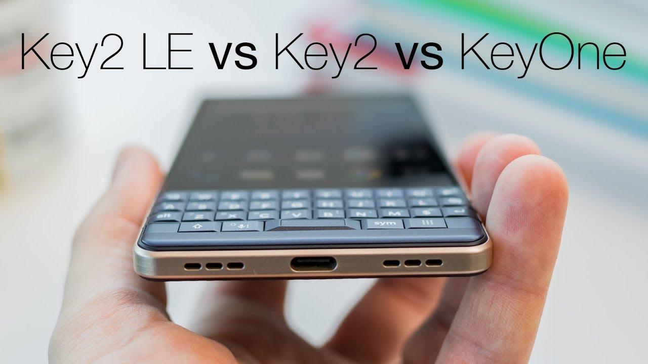 BlackBerry Key2 LE vs Key2 vs KeyOne