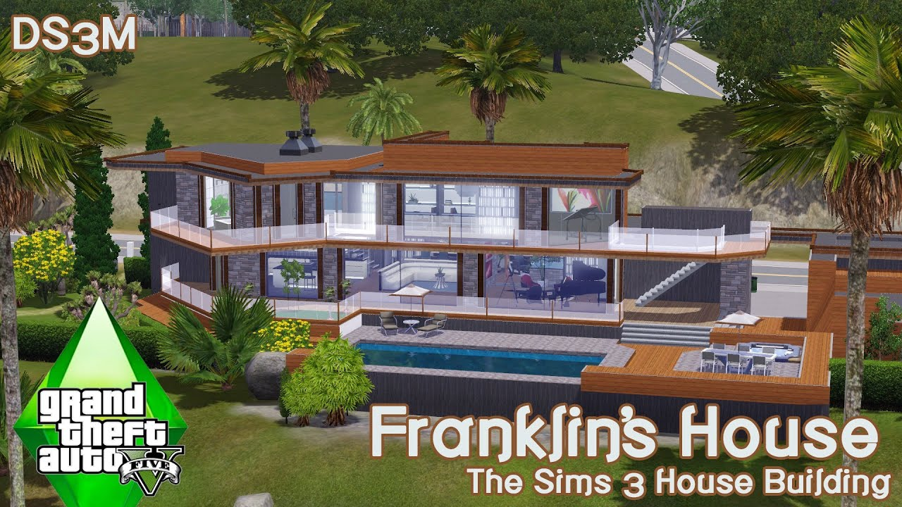 Sims 3 Mansion Floor Plans The Sims 3 House Building Franklin S House Gta V Youtube