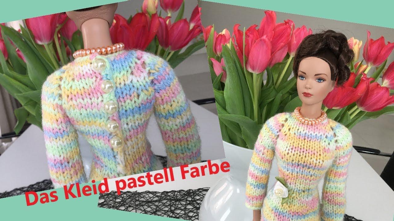 Barbiemodepuppe Das Kleid Selber Stricken Für Puppen Pastell