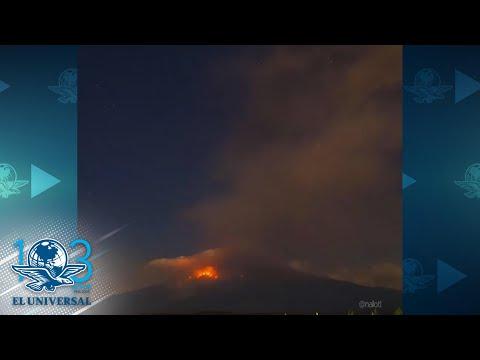 Popocatépetl reporta explosión