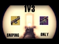 1v3 Trials w/ Double Snipers (1k Yard & No Land) Vs. Lb Enthusiast | Destiny