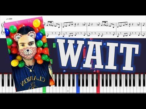 Maroon 5 - Wait - Piano Tutorial w/ Sheets