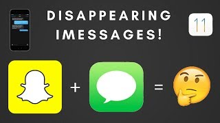 Snapchat On iMessage?! // iOS 11 iMessage DISAPPEARING MESSAGES GLITCH