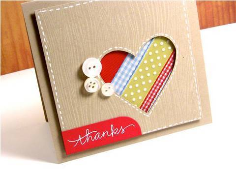 Thanks (Ribbon Scraps) - Make a Card Monday #118