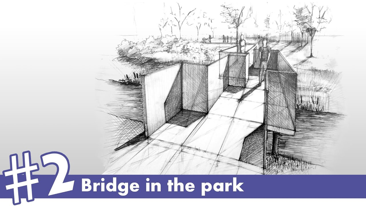 Landscape Architecture Perspective Drawings