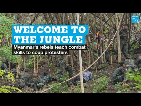 Download Welcome to the jungle: Myanmar's rebels teach combat skills to coup protesters