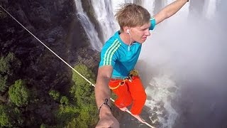 BBC Learning English: Video Words in the News: Don't look down! (12th November 2014)(Watch our weekly news video. This week's video is: Don't look down!: Two adventurers cross Zimbabwe's Victoria Falls on a high wire. Watch the video and ..., 2014-11-12T14:11:07.000Z)
