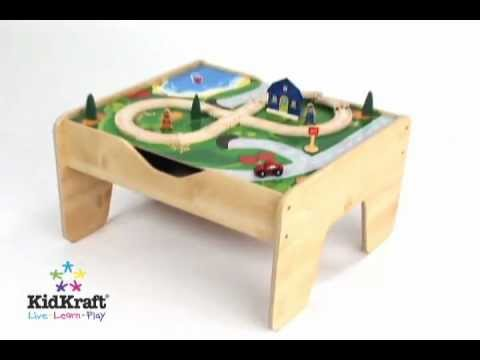 Attrayant KidKraft 2 In 1 Activity Table With Board   LEGO Compatible Wooden Set