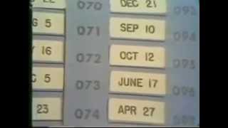 The Draft Lottery, Dec. 1, 1969