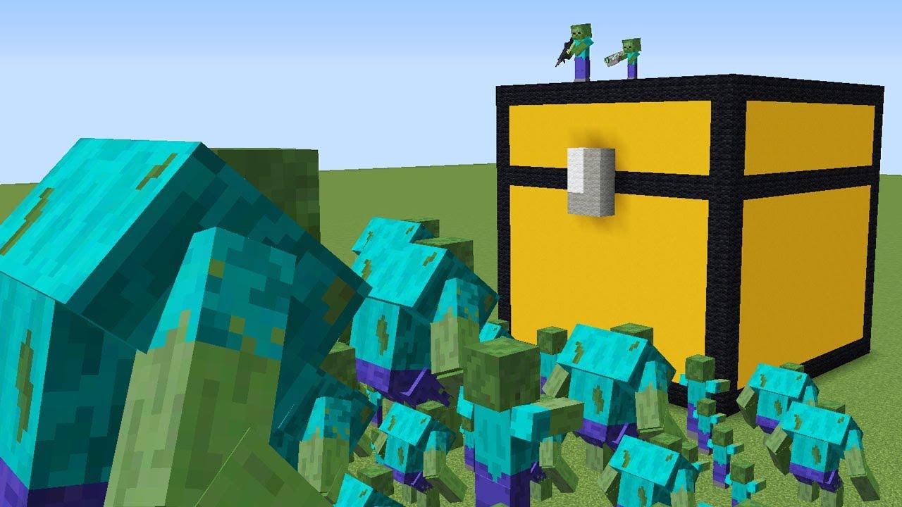 1000$ %100 GÜVENLİ SANDIK VS ZOMBİ KIYAMETİ 😱 - Minecraft