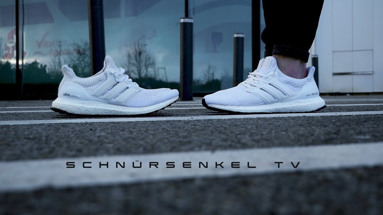 san francisco 6b4da 1d240 adidas ultra boost 4.0 triple white is the new 1.0 ? review unboxing on  feet german
