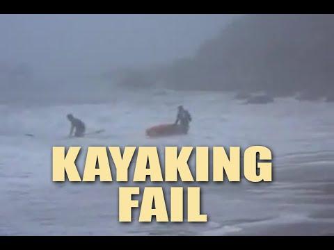 Big Sur Kayak Wipe Out California Hit by big wave!