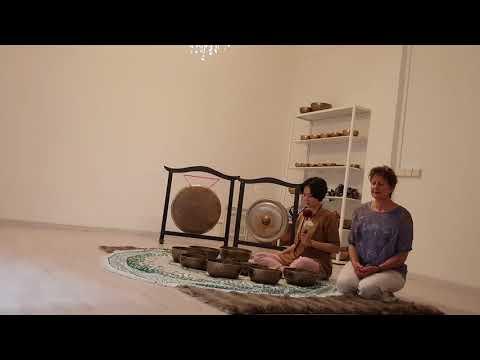 Maya Boston with Christina Shiu at The Singing Bowl Gallery in Singapore