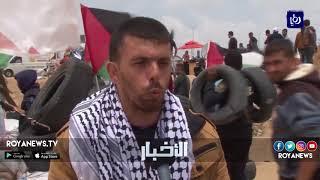 غزة تواصل مسيرات العودة الكبرى بـ جمعة الشباب الثائر - (27-4-2018)