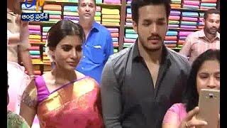 Samantha & Akhil at Vizag | Inaugurates South India Shopping Mall