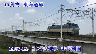 JR貨物 東海道線 西岡崎→岡崎 EF66-123  コンテナ列車 走行動画  Japan Freight Railway Company