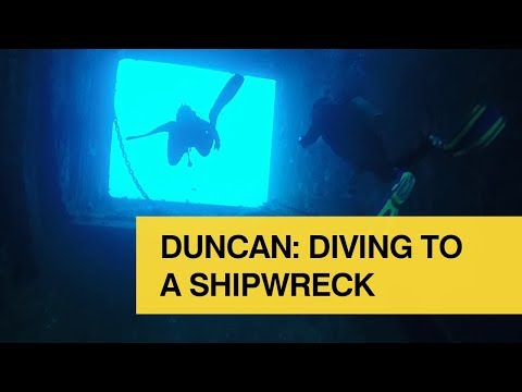 Duncan: Diving to a shipwreck. Student life at the University of Glasgow.