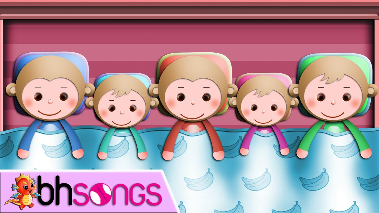 Super Simple Learning - Five Little Monkeys Lyrics