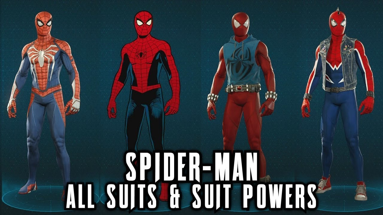 b915f6e504 Spider-Man PS4 - All Suits & Suit Powers (Costumes) - YouTube