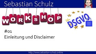 📚 DSGVO Workshop // Die DSGVO und Datenschutz einfach erklärt // Teil 01