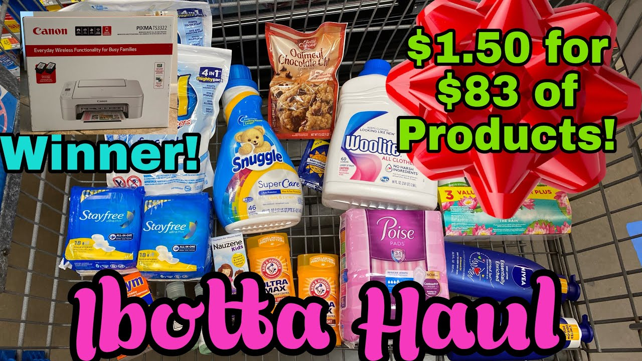 Walmart Ibotta Haul- Get $83 of Products for $1.50!
