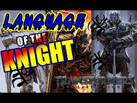 OPTIMUS PRIME ANCIENT LANGUAGE! The Language of the 1ST Transformers: Knights of Cybertron