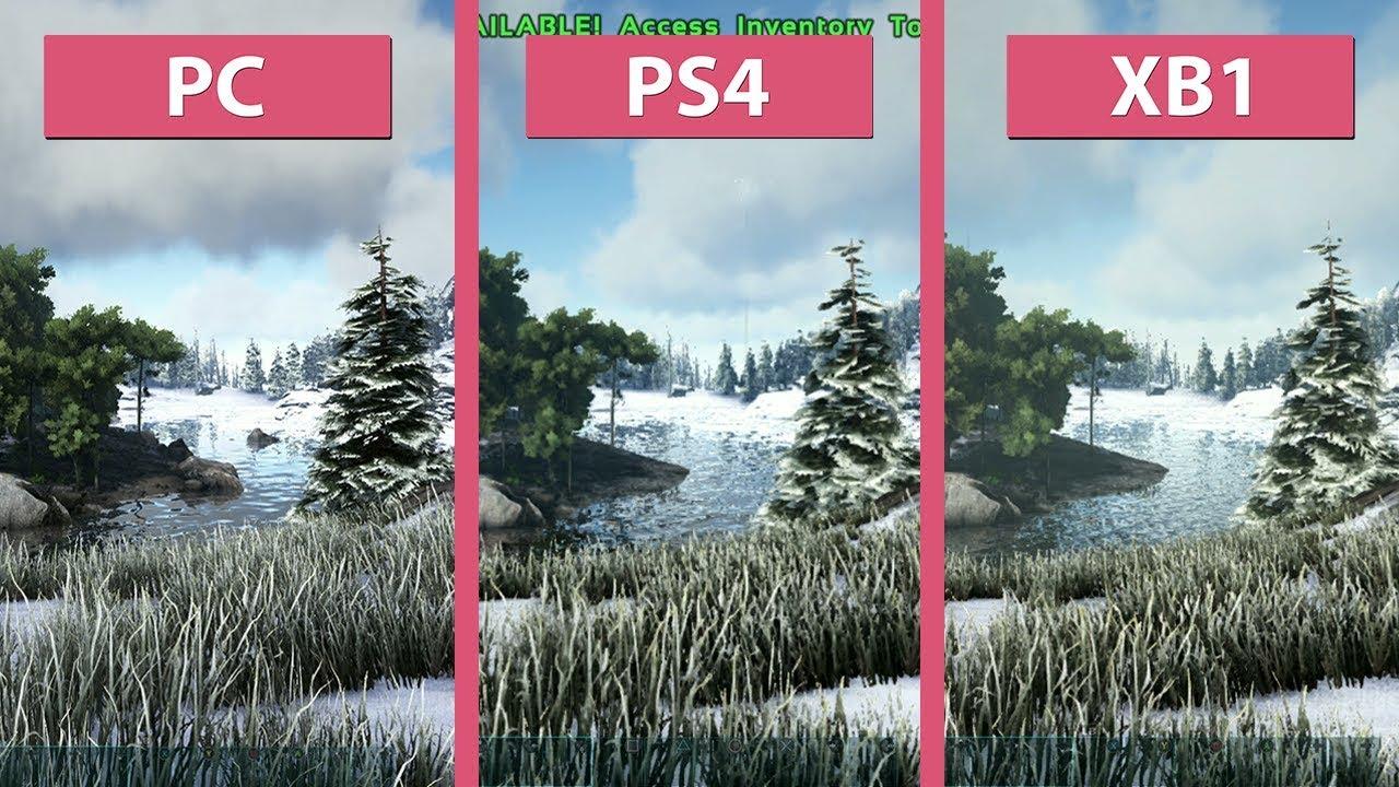 Ark Survival Evolved 2017 Pc Vs Ps4 Vs Xbox One Frame Rate Test Graphics Comparison