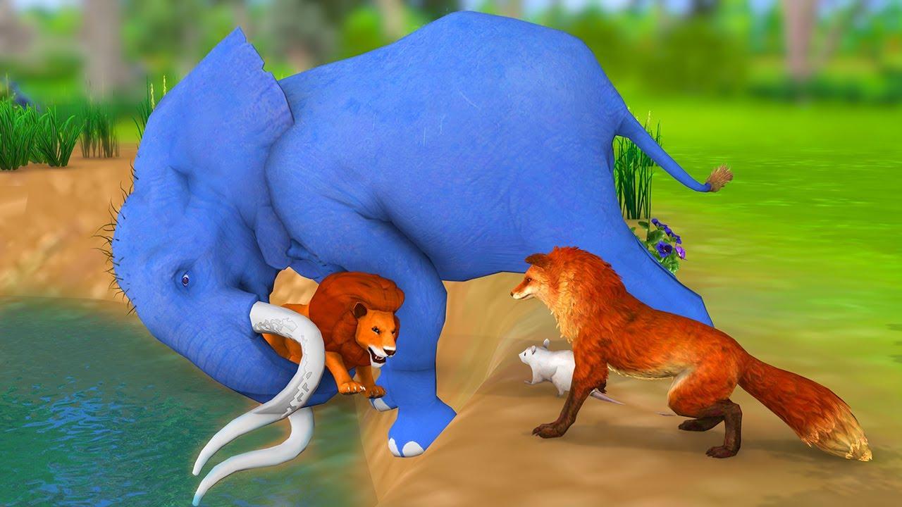 సింహం, ఏనుగు, నక్క తెలుగు నీతీ కథలు - Telugu Kathalu - Panchatantra Stories in Telugu - Fairy Tales