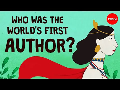 Video image: Who was the world's first author? - Soraya Field Fiorio