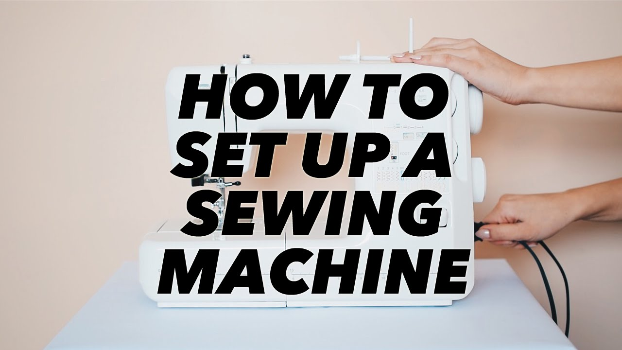 how to set up a machine