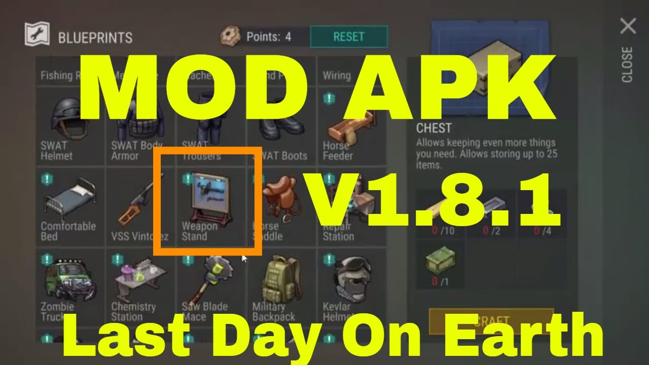 LAST DAY ON EARTH SURVIVAL MOD APK 1.8.1 NEW UPDATE HACK & CHEATS DOWNLOAD ANDROID & iOS 2018  #Smartphone #Android