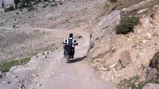 descending from Rama Lake on motorcycles