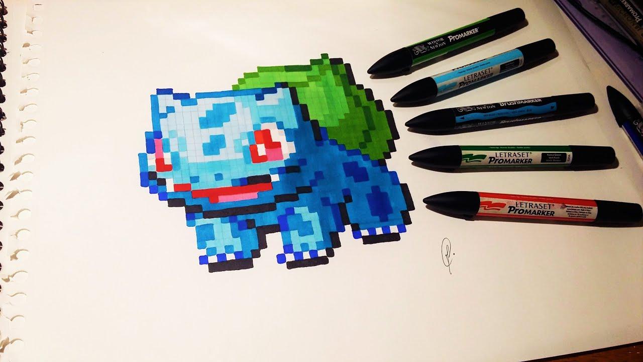 Pokemon Bulbasaur Drawing Pixel Art Youtube
