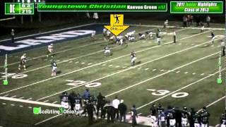 2013 Kaevon Green - Youngstown Christian - DE - Jr yr - PROMO