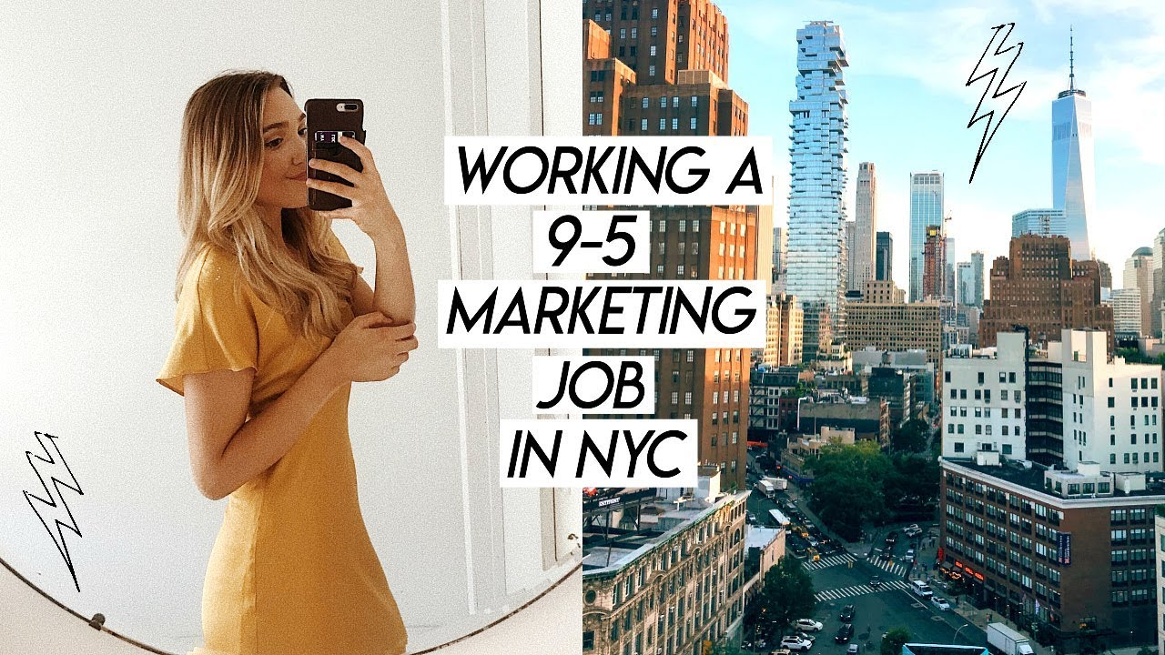 WORKING A 95 MARKETING JOB IN NYC  busy work week in my life