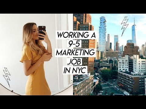 WORKING A 9-5 MARKETING JOB IN NYC   Busy Work Week In My Life!